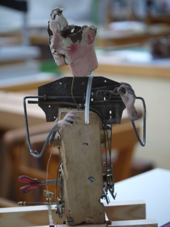 Brittany Nico Cox works on a smoking automaton