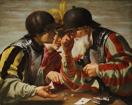 Hendrick Ter Brugghen, Card players