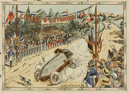 "Top of the game ""Course d'Automobiles"" (Automobiles Race) by french toy factory Saussine"