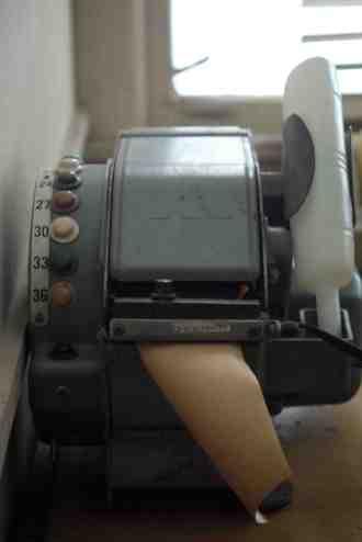 A gum tape machine dispenser - still works too.
