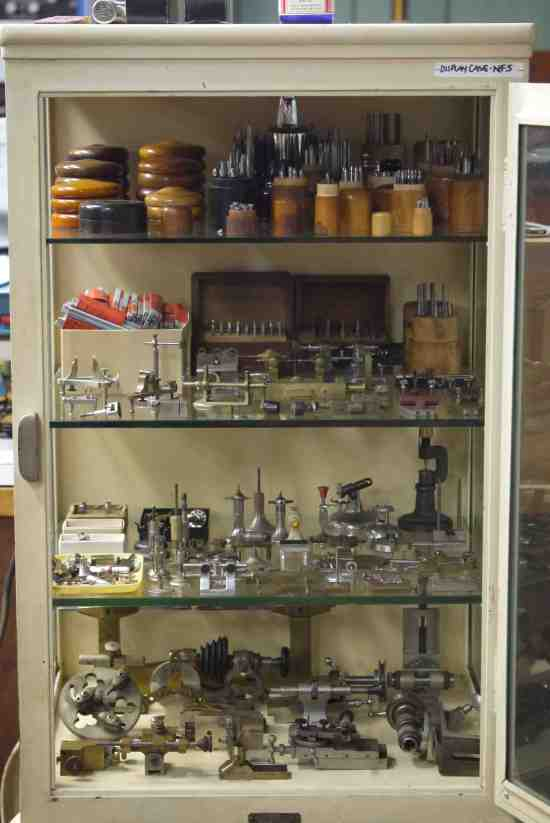Cabinet of horological tools