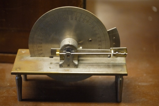 Antique watch balance screw scale