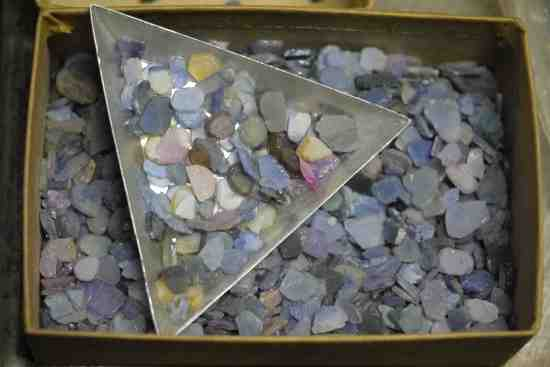 A little tray of jeweling material