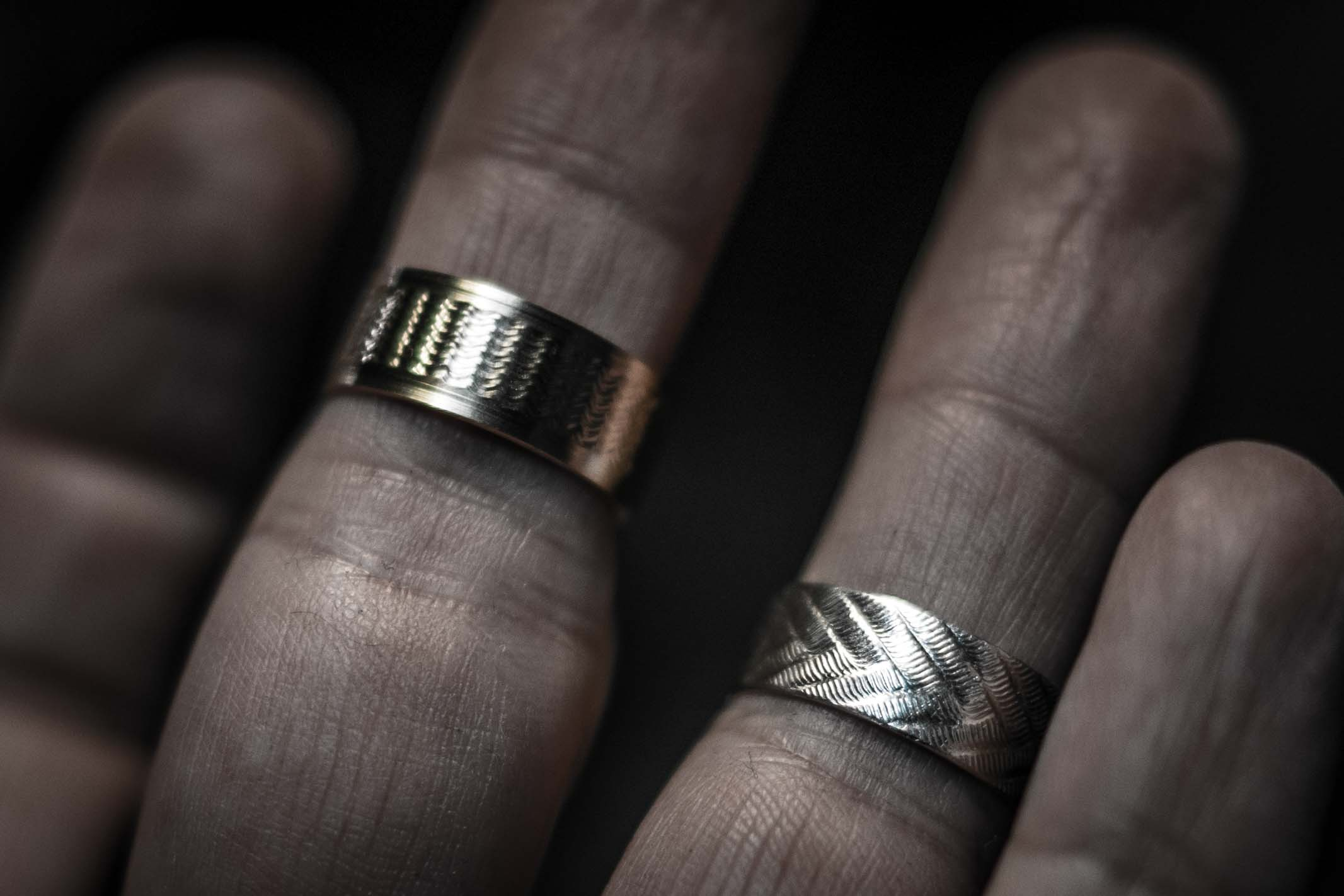 ring rustic maggidesigns pin by hammered rings mechanical wedding all cross band mens